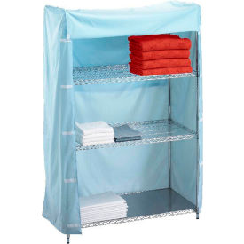 "r&b wire products 183672c linen cart nylon cover, 36""l x 18""w x 72""h, light blue R&B Wire Products 183672C Linen Cart Nylon Cover, 36""L x 18""W x 72""H, Light Blue"
