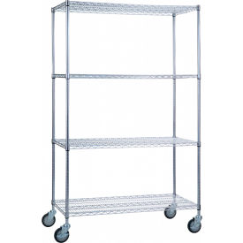 "r&b wire products lc183672 mobile linen cart with 4 wire shelves, 36""l x 18""w x 78""h R&B Wire Products LC183672 Mobile Linen Cart with 4 Wire Shelves, 36""L x 18""W x 78""H"