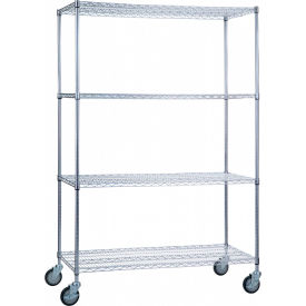 "r&b wire products lc244872 mobile linen cart with 4 wire shelves, 48""l x 24""w x 78""h R&B Wire Products LC244872 Mobile Linen Cart with 4 Wire Shelves, 48""L x 24""W x 78""H"