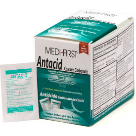 80233 Medi-First; Antacid Packs 2/Pack, 50 Pack/Box, 80233