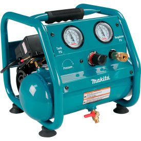 AC001 Makita; AC001, 0.17 HP, Hand Carry, 1 Gallon, Hot Dog, 125 PSI, 0.45 CFM, 1-Phase 120V