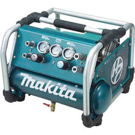 AC310H Makita; AC310H, 2.5 HP, Hand Carry, 1.6 Gallon, Hot Dog, 130 PSI, 3.6 CFM, 1-Phase 120V
