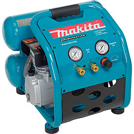 MAC2400 Makita; MAC2400, 2.5 HP, Hand Carry, 4.2 Gallon, Twin Stack, 130 PSI, 4.2 CFM, 1-Phase 120V