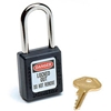 410BLK Master Lock; Safety 410 Series Safety Zenex; Thermoplastic Padlock, Black, 410BLK