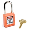 410ORJ Master Lock; Safety 410 Series Zenex; Thermoplastic Padlock, Orange, 410ORJ