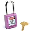 410PRP Master Lock; Safety 410 Series Thermoplastic Padlock, Purple, 410PRP-DG7179