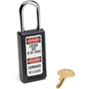 411BLK Master Lock; Safety 411 Series Zenex; Thermoplastic Padlock, Black, 411BLK