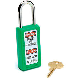 411GRN Master Lock; Safety 411 Series Zenex; Thermoplastic Padlock, Green, 411GRN