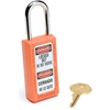 411ORJ Master Lock; Safety 411 Series Zenex; Thermoplastic Padlock, Orange, 411ORJ