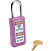 411PRP Master Lock; Safety 411 Series Zenex; Thermoplastic Padlock, Purple, 411PRP