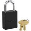 6835BLK Master Lock; Safety 6835 Series Aluminum Lockout Padlock, Black, 6835BLK