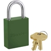 6835GRN Master Lock; Safety 6835 Series Aluminum Padlock, Green, 6835GRN