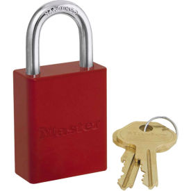 6835RED Master Lock; Safety 6835 Series Aluminum Padlock, Hi-Vis Red, 6835RED