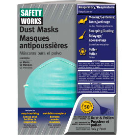 10028560 Safety Works 10028560 Dust And Pollen Masks, 50/Pack