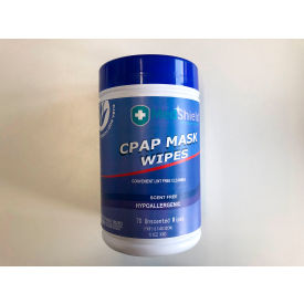 "cpap mask wipes, 5"" x 8"", 140 count total (2 dispensers of 70 wipes each)"