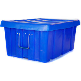 "Myton Bulk Shipping Poly Container MTL-2 With Lid 31""L x 22""W x 15""H, Gray"
