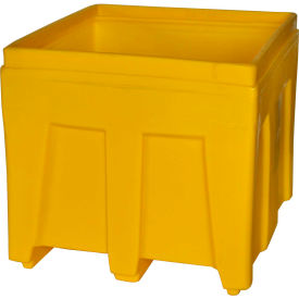 "Myton Bulk Shipping Poly Container SO-3626 - 36""L x 32""W x 29-1/2""H, Yellow"