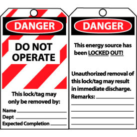 LLT1 Laminated Lockout Tags
