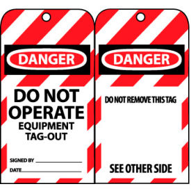 LOTAG13 Lockout Tags - Do Not Operate Equipment Tag-Out