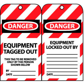 LOTAG20 Lockout Tags - Equipment Tagged Out