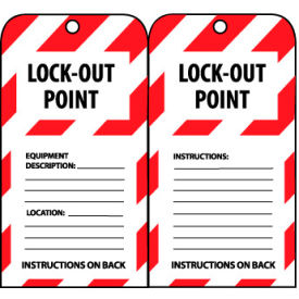 LOTAG21 Lockout Tags - Lock-Out Point