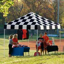 10x10 straight leg pop up canopy - checkered flag cover 10x10 Straight Leg Pop Up Canopy - Checkered Flag Cover
