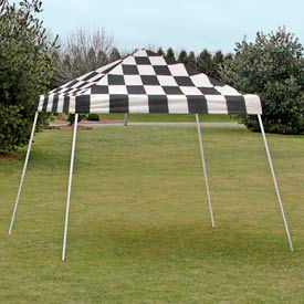 10x10 s l popup canopy - checkered flag cover w/black roller bag 10x10 S L Popup Canopy - Checkered Flag Cover w/Black Roller Bag