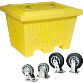 "1511-YE Enpac 1511-YE Yellow Large Tote Combo w/8"" Wheels, 35-1/2""L x 45""W x 30-13/32""H"