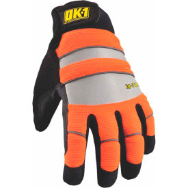 occunomix ok-ig300-o-12 waterproof winter protection glove hi-vis orange, s Occunomix OK-IG300-O-12 Waterproof Winter Protection Glove Hi-Vis Orange, S