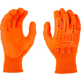Mad Grip Thunderdome™ Impact Glove, High Vis Orange, M, 0MG10F5-HIVSOR-Medium