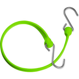 "the better bungee™ bbs24gsg 24"" bungee strap with galvanized triangle s hook - safety green The Better Bungee™ BBS24GSG 24"" Bungee Strap with Galvanized Triangle S Hook - Safety Green"