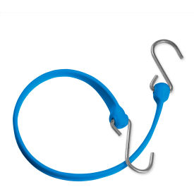 "the better bungee™ bbs36gbl 36"" bungee strap with galvanized triangle s hook - blue The Better Bungee™ BBS36GBL 36"" Bungee Strap with Galvanized Triangle S Hook - Blue"