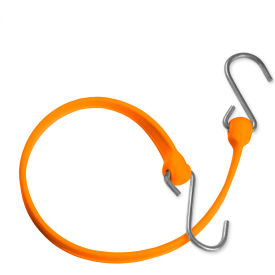 "the better bungee™ bbs36go 36"" bungee strap with galvanized triangle s hook - orange The Better Bungee™ BBS36GO 36"" Bungee Strap with Galvanized Triangle S Hook - Orange"