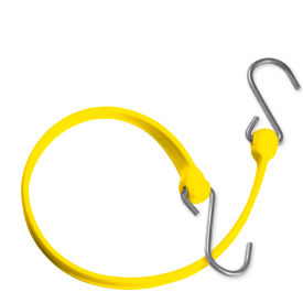 "the better bungee™ bbs36gy 36"" bungee strap with galvanized triangle s hook - yellow The Better Bungee™ BBS36GY 36"" Bungee Strap with Galvanized Triangle S Hook - Yellow"