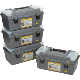 "652009 Plano Molding 652-009 Toolbox with Tray and (2) compartment boxes 20-1/4""L x 10-7/8""W x 9-1/8""H Gray"
