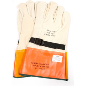 "arcguard® 12"" leather glove protectors, size 8, dwh12l8"