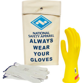 arcguard® class 0 arcguard rubber voltage glove kit, yellow, size 9, kitgc0y09