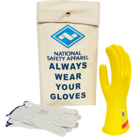 arcguard® class 0 arcguard rubber voltage glove kit, yellow, size 12, kitgc0y12
