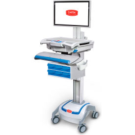 capsa healthcare m38e xp non-powered point of care mobile lcd cart with six locking bins Capsa Healthcare M38e XP Non-Powered Point of Care Mobile LCD Cart with Six Locking Bins