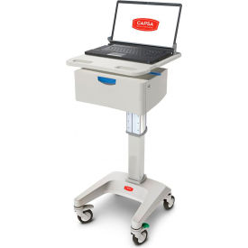 "capsa healthcare lx5 non-powered laptop cart, one 6"" drawer, 45 lbs. weight capacity Capsa Healthcare LX5 Non-Powered Laptop Cart, One 6"" Drawer, 45 lbs. Weight Capacity"
