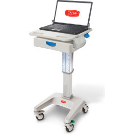 "capsa healthcare lx5 non-powered laptop cart, one 3"" drawer, 35 lbs. weight capacity Capsa Healthcare LX5 Non-Powered Laptop Cart, One 3"" Drawer, 35 lbs. Weight Capacity"