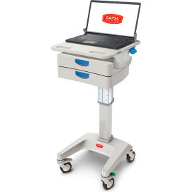 "capsa healthcare lx5 non-powered laptop cart, two 3"" drawers, 45 lbs. weight capacity Capsa Healthcare LX5 Non-Powered Laptop Cart, Two 3"" Drawers, 45 lbs. Weight Capacity"