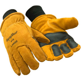 double insulated cowhide glove, gold - xl Double Insulated Cowhide Glove, Gold - XL