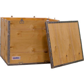 "global industrial™ 4-panel hinged shipping crate with lid, 24"" x 20"" x 20"" o.d. Global Industrial™ 4-Panel Hinged Shipping Crate with Lid, 24"" x 20"" x 20"" O.D."