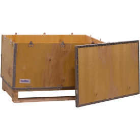 "global industrial™ 4-panel hinged shipping crate with lid & pallet, 36"" x 22"" x 22"" o.d. Global Industrial™ 4-Panel Hinged Shipping Crate with Lid & Pallet, 36"" x 22"" x 22"" O.D."