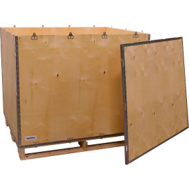 "global industrial™ 6-panel shipping crate with lid & pallet, 48"" x 40"" x 42"" o.d. Global Industrial™ 6-Panel Shipping Crate with Lid & Pallet, 48"" x 40"" x 42"" O.D."