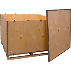"global industrial™ 6-panel shipping crate with lid & pallet, 48"" x 45"" x 35"" o.d. Global Industrial™ 6-Panel Shipping Crate with Lid & Pallet, 48"" x 45"" x 35"" O.D."