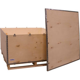 "global industrial™ 6-panel shipping crate with lid & pallet, 48"" x 48"" x 28"" o.d. Global Industrial™ 6-Panel Shipping Crate with Lid & Pallet, 48"" x 48"" x 28"" O.D."