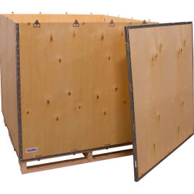 "global industrial™ 6-panel shipping crate with lid & pallet, 48"" x 48"" x 48"" o.d. Global Industrial™ 6-Panel Shipping Crate with Lid & Pallet, 48"" x 48"" x 48"" O.D."