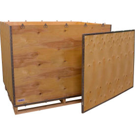 "global industrial™ 6-panel shipping crate with lid & pallet, 58"" x 42"" x 46"" o.d. Global Industrial™ 6-Panel Shipping Crate with Lid & Pallet, 58"" x 42"" x 46"" O.D."